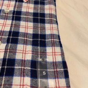 Casual Button Flannel Shirt Patterned